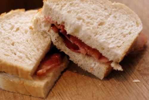 This is a bacon sandwich